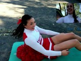 Rutgers Cheerleader Attempting Situp Record