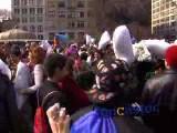Pillow Fight Between Thousands