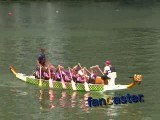 Dragon Boat Racing Fan Roots for Breast Cancer Survivors