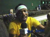 Dodgeball Player Broadcasts the Action