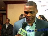 Russell Westbrook plays pro basketball for the Houston Rockets