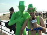 Green Dudes Take a Dip in Arctic Water