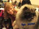 Journey is a Keeshond and Kelly is his Trainer