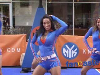 Knicks City Dancers at Tribeca Family Festival